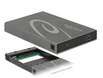 DeLock 2,5″ External Enclosure SATA HDD / SSD > USB 3.1 Type C