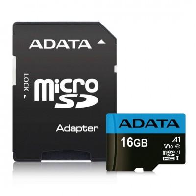 A-Data 16GB microSDHC Premier UHS-I Class10 V10 A1 + adapterrel