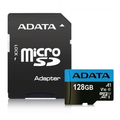 A-Data 128GB microSDXC Premier UHS-I Class10 V10 A1 + adapterrel