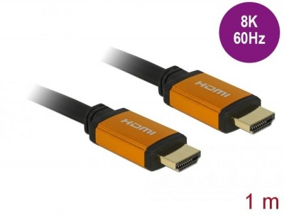 DeLock Ultra High Speed HDMI Cable 48 Gbps 8K 60 Hz 1m