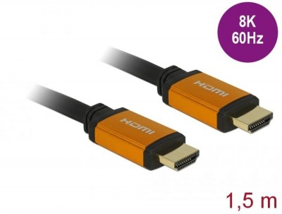 DeLock Ultra High Speed HDMI Cable 48 Gbps 8K 60 Hz 1,5m