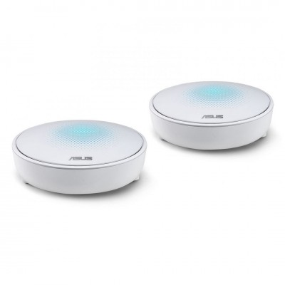 Asus Lyra Home WiFi System Pack of 2 Tri-Band Mesh Networking Wireless AC2200 Routers