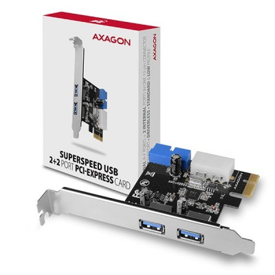 AXAGON PCEU-232VL SuperSpeed USB 2+2 Port PCI-Express Card