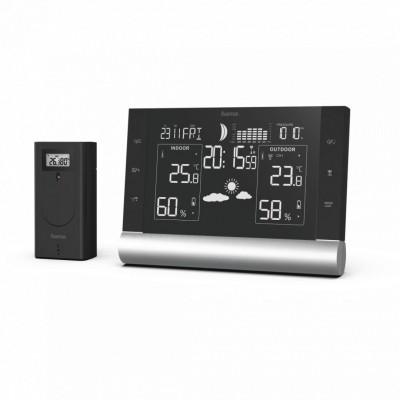 Hama Black Line Plus Weather Station Black