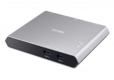 ATEN US3310 2-Port USB-C Gen 1 Dock Switch with Power Pass-through