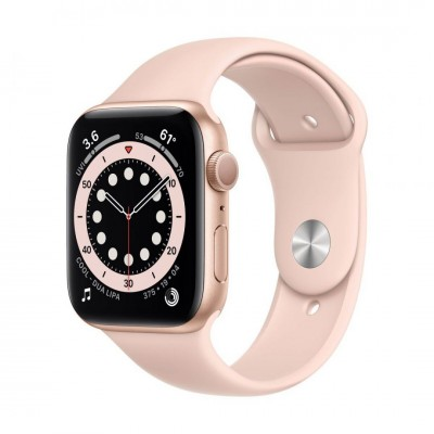 Apple Watch Series 6 GPS 44mm Gold Aluminium Case with Pink Sand Sport Band