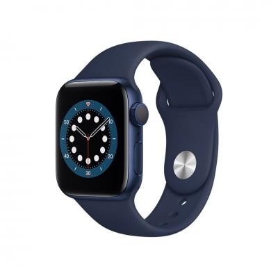 Apple Watch Series 6 GPS 44mm Blue Aluminium Case with Deep Navy Sport Band
