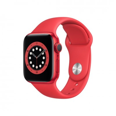 Apple Watch Series 6 GPS 44mm Red Aluminium Case with Red Sport Band