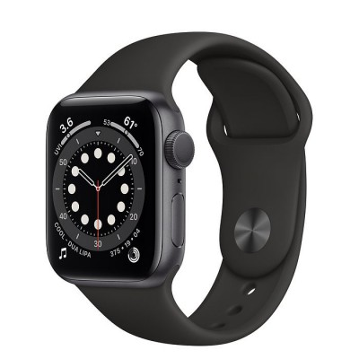 Apple Watch Series 6 GPS 40mm Space Gray Aluminium Case with Black Sport Band