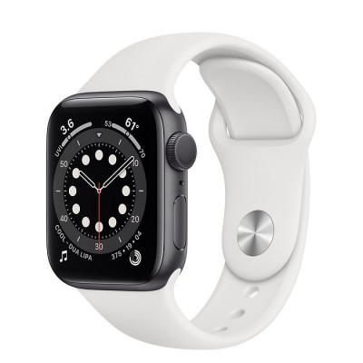 Apple Watch Series 6 GPS 40mm Silver Aluminium Case with White Sport Band