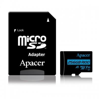 Apacer 256GB microSDXC CL10 UHS-I U3 V30 A1 + adapterrel