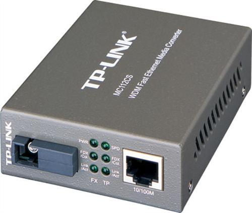 TP-Link MC112CS single-mode 100M fiber conv.