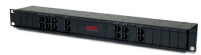 """APC 19"""" Chassis 1U 24 Channels for Replaceable Data Line Surge Protection"""