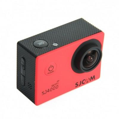 SJCAM SJ4000 Wi-Fi Sportkamera Red Waterproof Case