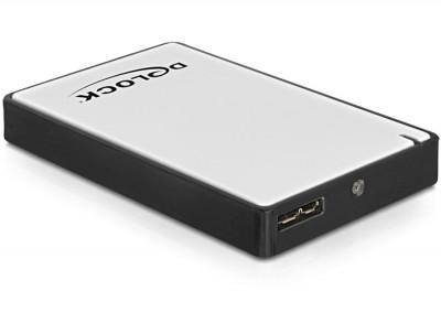 """DeLock 1,8"""" külső ház mikro SATA HDD / SSD > USB 3.0"""