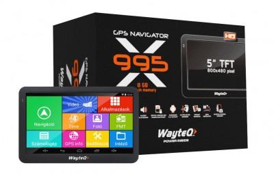 """Wayteq X995 GPS/TAB 5"""" 8GB Bluetooth Igo kompatibilis térkép nélkül"""