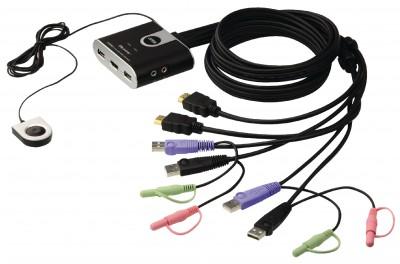 ATEN CPU Switch 2PC USB HDMI audio 2.0
